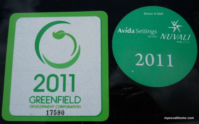 Nuvali and Greenfield Stickers Sept2011