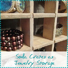 soda crates as jewelry storage
