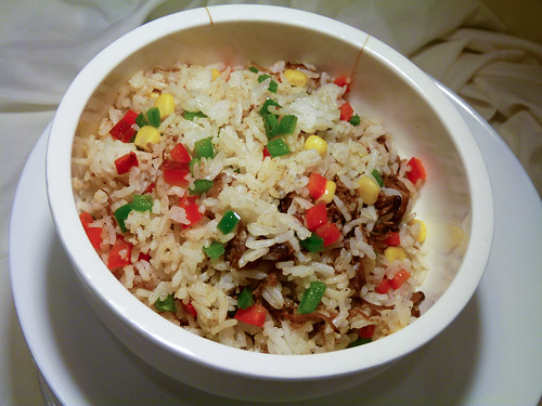 Angus Beef Belly Fried Rice that Chef Hannah cooked at H Cuisine
