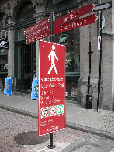 Pedestrianization in Old Montreal