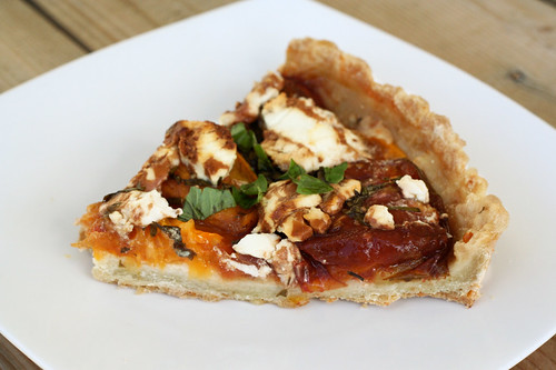 Gluten-Free Heirloom Tomato Tart with Goat Cheese