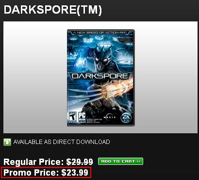 Darkspore On Sale VIA Origin!