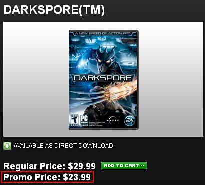 Darkspore On Sale VIA Origin!