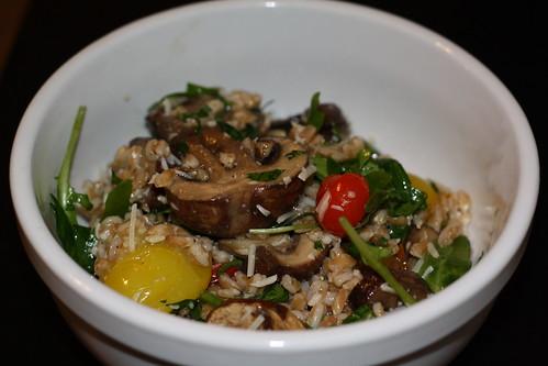 Roasted Mushroom & Farro Salad