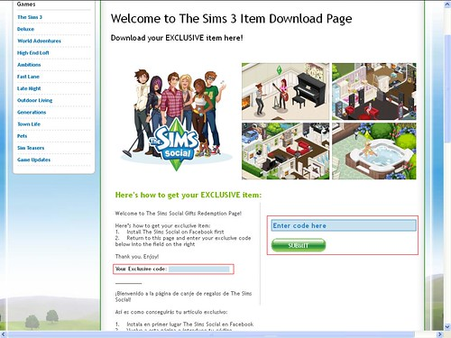 The Sims Social - Free Exclusive Sims 3 Content