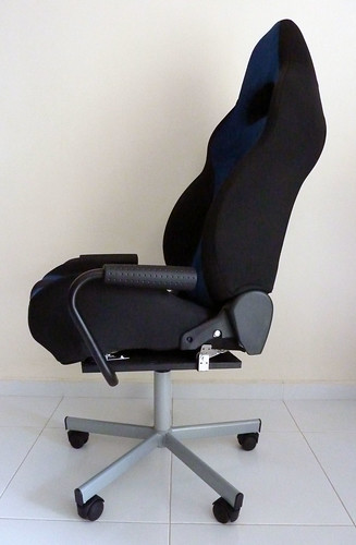 car seat desk chair conversion long beach converting seats to office chairs part iv final the further front you mount wheel base more easily will topple backwards as can still recline would want put