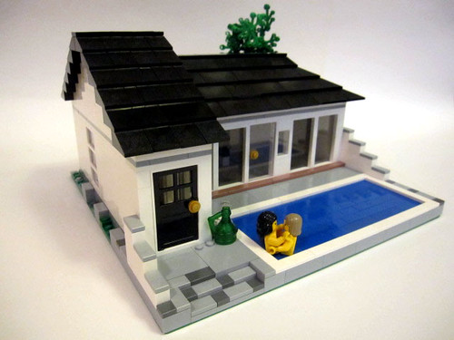 Brick Town Talk Dirty Pool LEGO Town Architecture Building