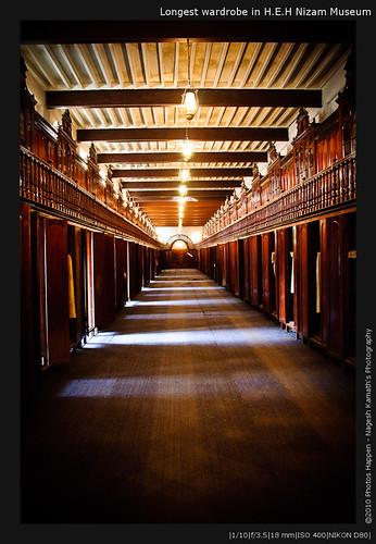 Longest wardrobe in H.E.H Nizam Museum