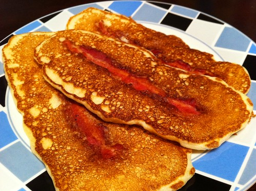 bacon IN the pancakes...