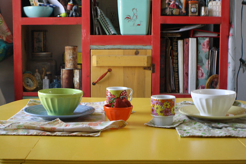 happy breakfast scene