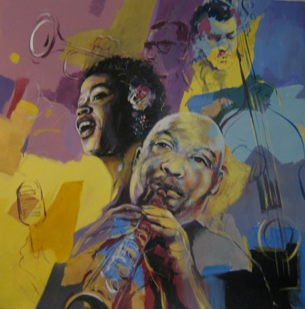 Watercolor Paintings of Jazz Musicians