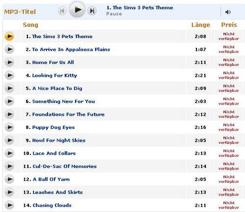 Listen to The Sims 3 Pets Soundtrack on Amazon!