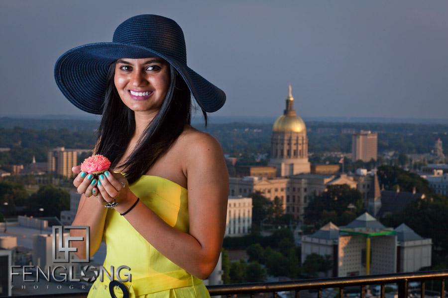 Rooftop Portrait Session with Yashoda | William-Oliver Building | Atlanta Portrait Photographer