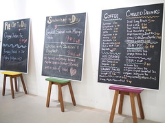 Blackboard menu, Drips Cafe and Bakery, Tiong Poh Road, Tiong Bahru Estate