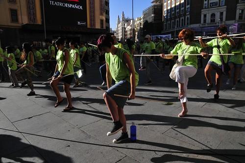 Acto del Partido Animalista -PACMA- en Callao (Madrid). En memoria de Afligido, Toro de la Vega 2011
