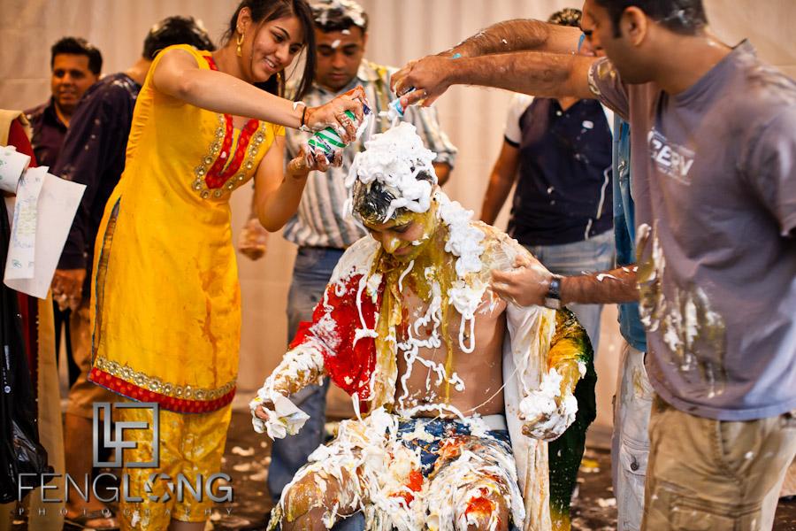 Groom's Haldi Ceremony | Shamz & Sana's Wedding Day 2 | Hyatt Place Atlanta Airport South | Atlanta Indian Photographer