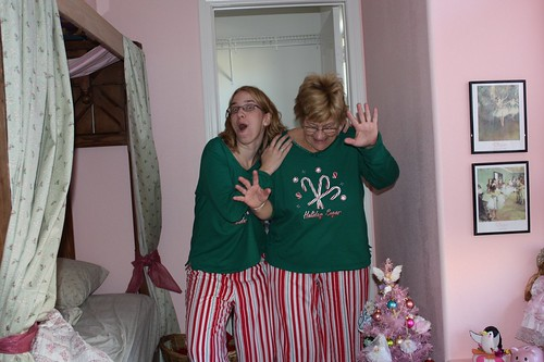 My mom loves our matching pajamas