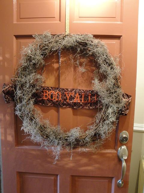 Halloween Wreath I Made