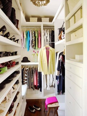narrow closet BHG