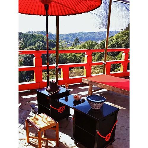 信貴山にて、一服のお茶をいかが? #iphonography #instagram