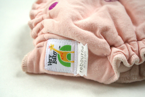 organic hand dyed and hand stamped diaper by rebourne.etsy.com