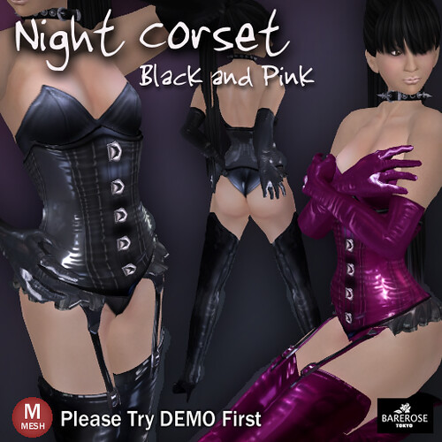 Night Corset by BareRose @ The Deck