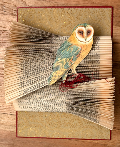 Altered Books Barn Owl