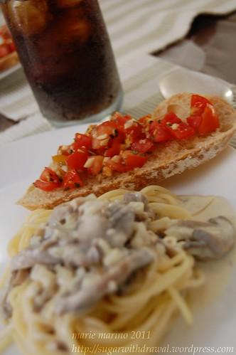 Pasta and Bruschetta