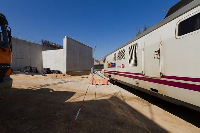 Triangle Ferroviari - La nueva vía de servicios en funcionamiento - 04-10-11