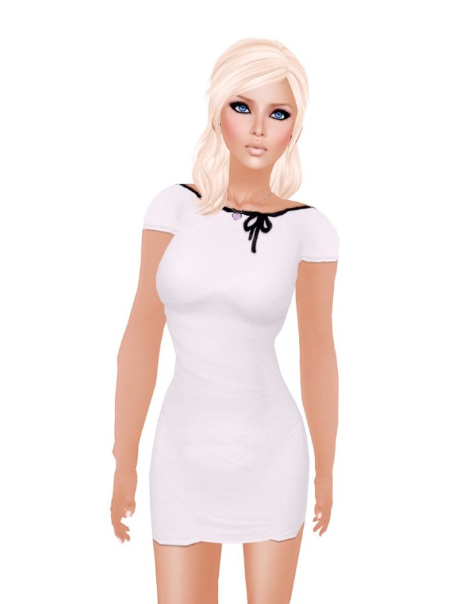 Whippet & Buck - Jezibell Backless Dress WHITE/BLACK