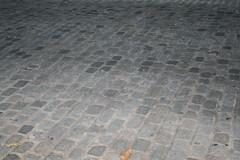 Cobblestone streets still in use.