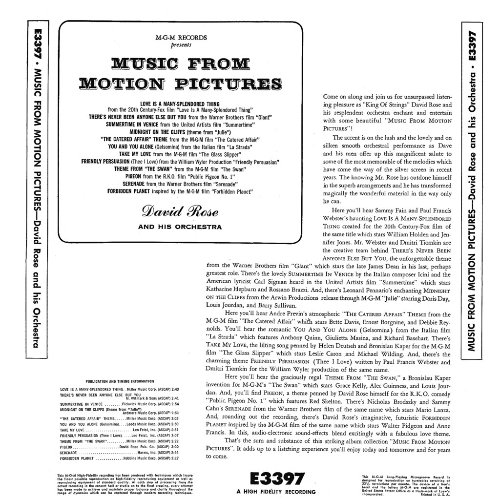 David Rose - Music From Motion Pictures