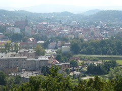 Widok z wieży widokowej na Wzgórzu Krzywoustego w Jeleniej Górze by Polek