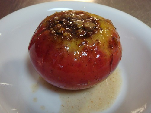 Baked Apple ready for eating