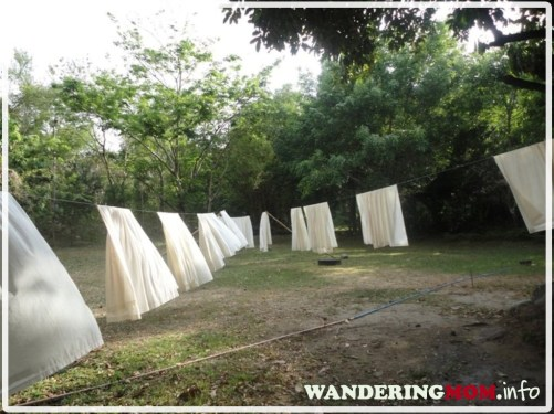 Drying of bedsheets