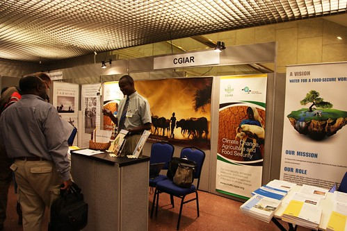 First annual conference on Climate Change and Development in Africa: participants visit CGIAR booth