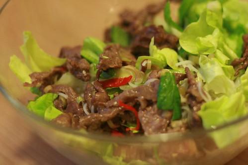 Stir-fried beef for Bun bo Nam Bo