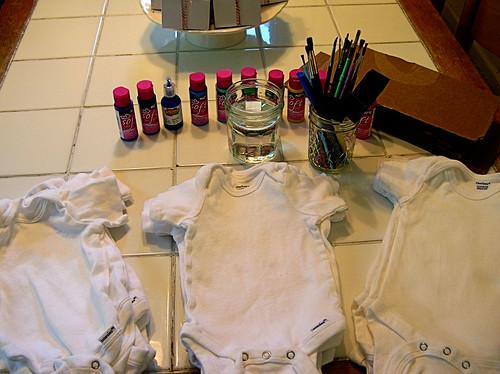 onesie painting station