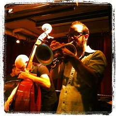 Kirk Knuffke in the Mark Helias Quartet @corne...