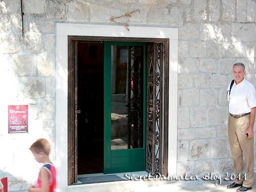 The custom designed cast-iron doors