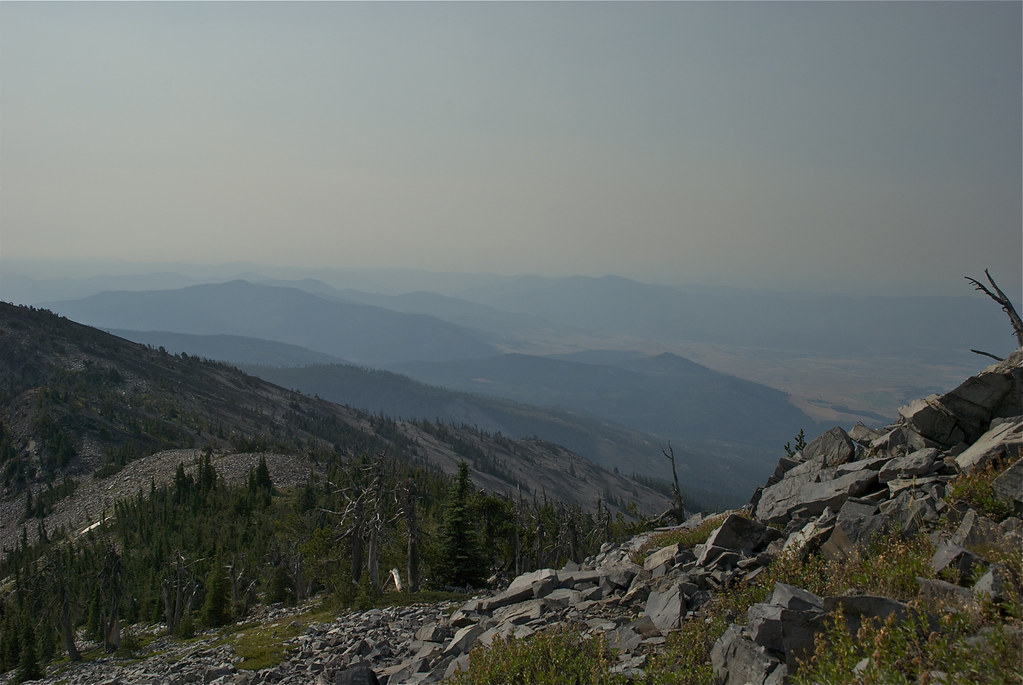 East of Mount Baldy in the smoke