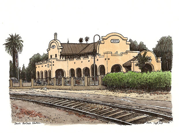 davis amtrak station