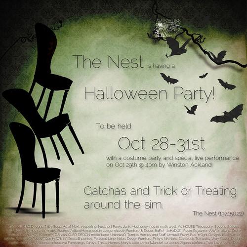 The Nest Halloween Party by Isla Gealach