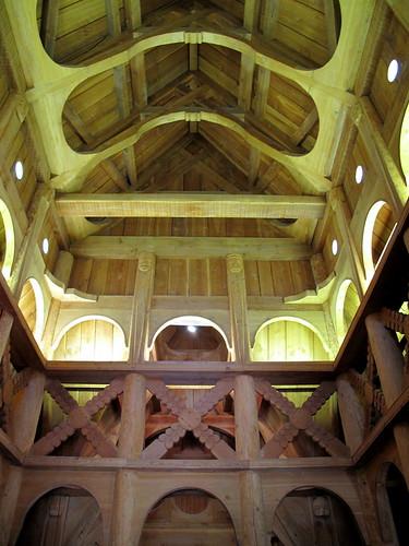 inside stavkirke