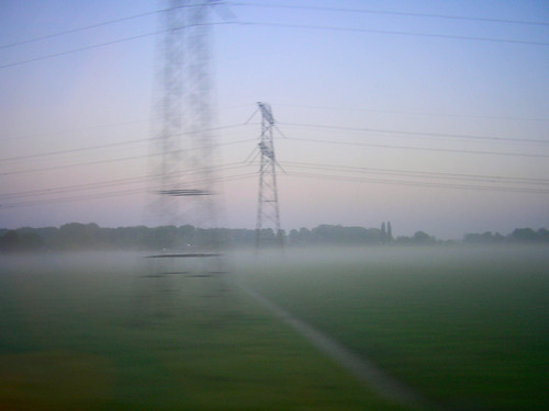 Fog and electic towers