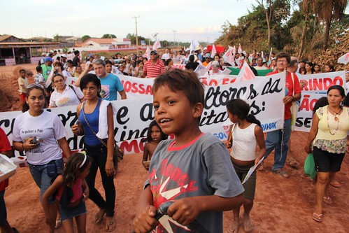 Protest against Belo Monte, Altamira, Brazil - August 19, 2011