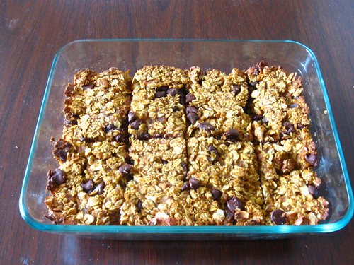 Pumpkin Chocolate Chip Granola Bars