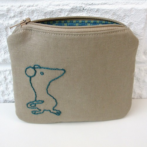 Little mouse purse by Very Berry Handmade