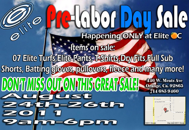 labor day sale 2011 oc