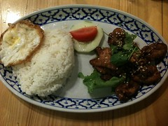 Honey Chicken with Egg Rice
